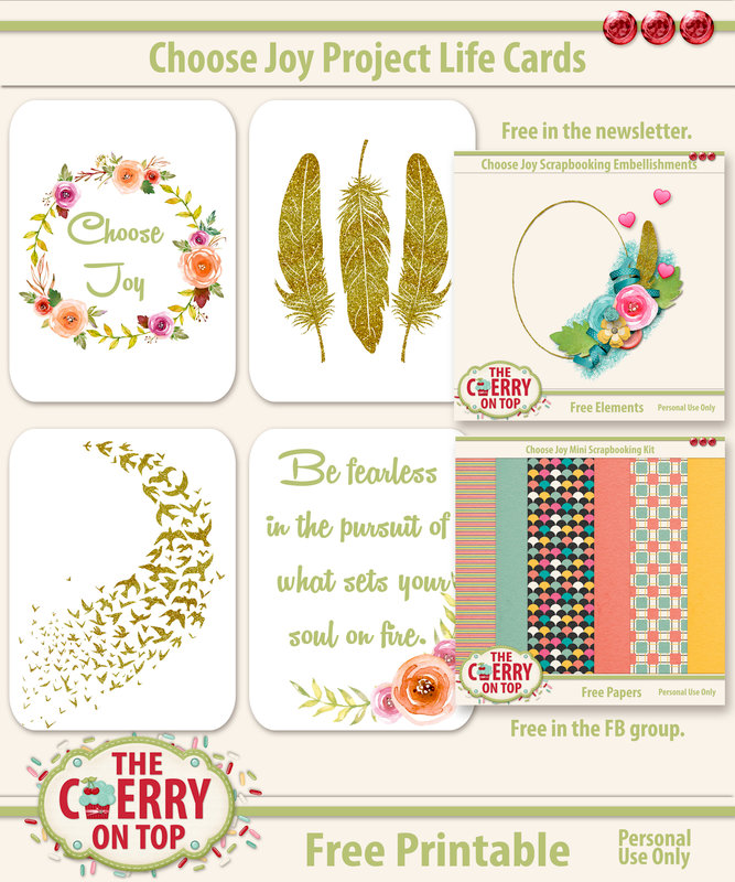 Free Project Life Cards