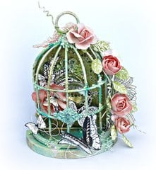 Mixed Media Romantic Bird Cage