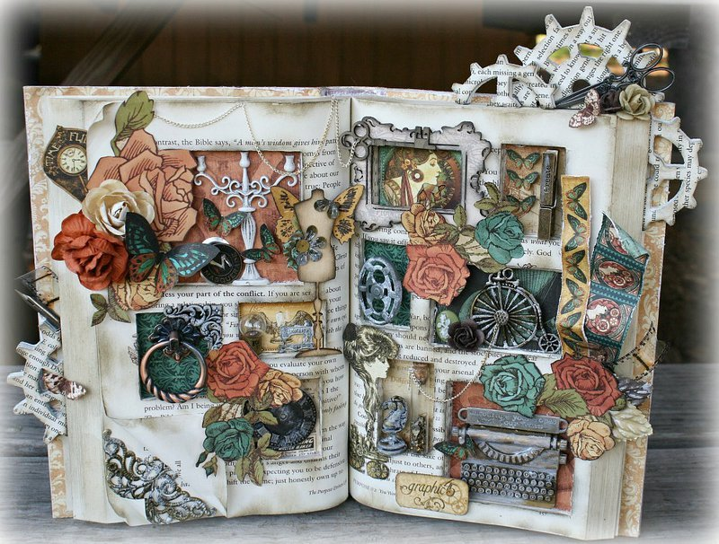 Steampunk Altered Book