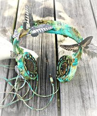 Mixed Media Altered Headphones