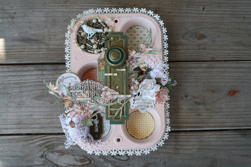 Secret GArden Altered Muffin Tin G45 DT