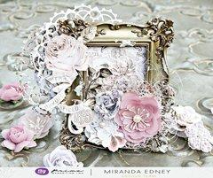 Lavender Frost Frame Card