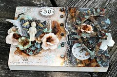 Mixed media Plaque for Live with Prima
