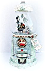 Altered gumball/Snowglobe for Prima using Sweet Peppermint