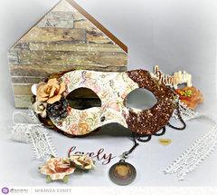 Amber Moon Masquerade Mask
