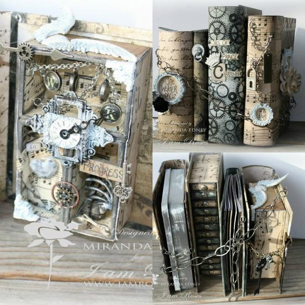 handcrafted book stack