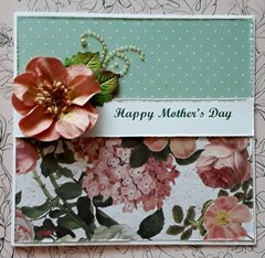 Painted Flower Mom Card