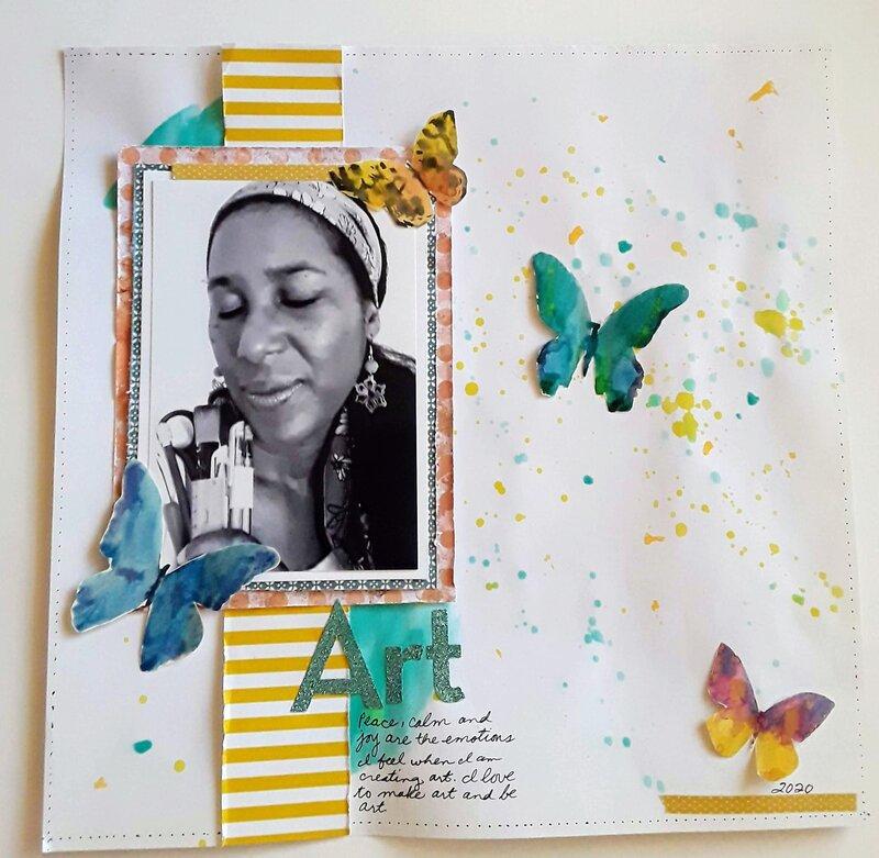 Paint Splatters & Butterflies