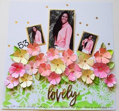 Painted Flowers Layout