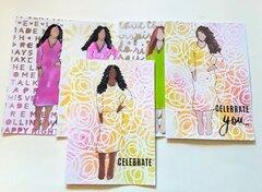 Sassy Stencil Girl Cards