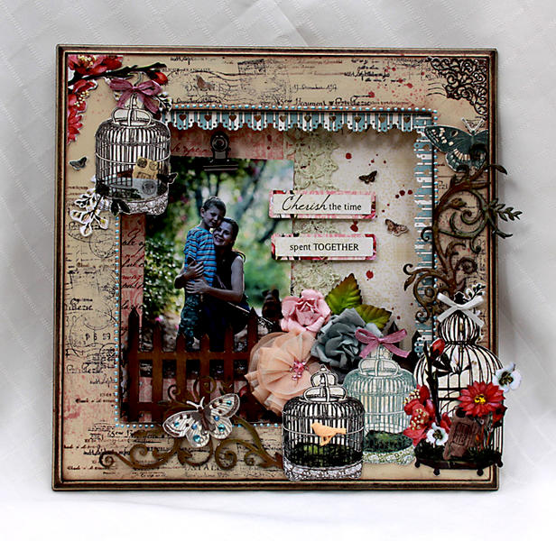 """Cherish"" Altered Frame for Blue Fern Studio"