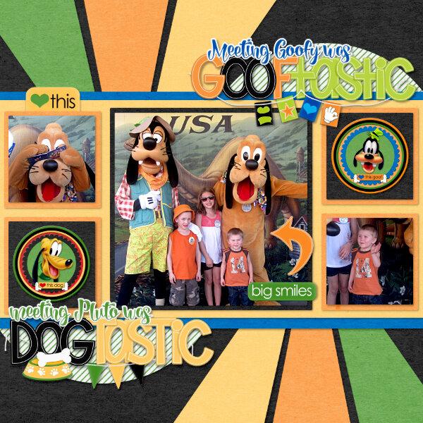 Meeting Goofy & Pluto