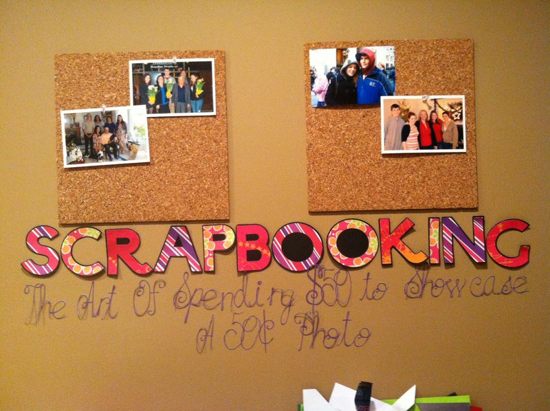 Scrapbooking: The Art of spending $50 to showcase a 50cent photo