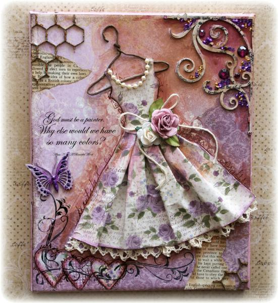 Vintage Dress canvas with tutorial