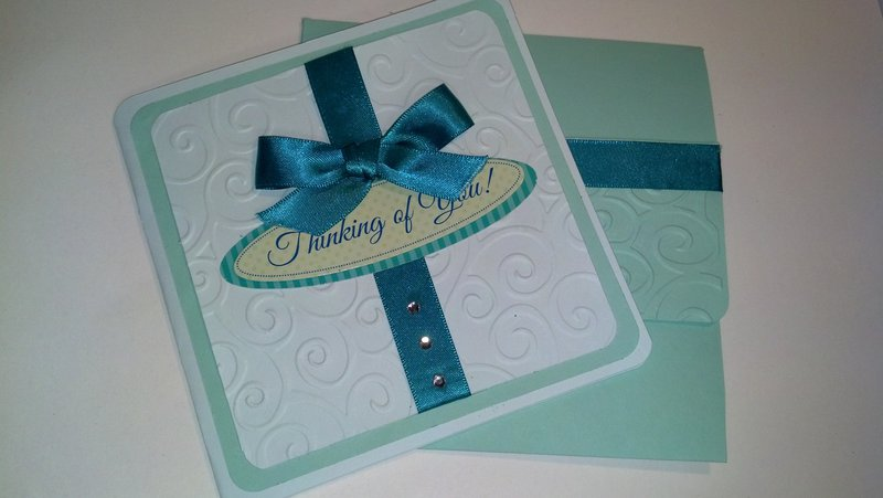 Thinking of you in teal
