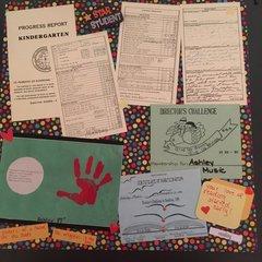Kindergarten progress report page