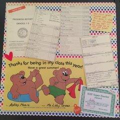 First grade progress report page