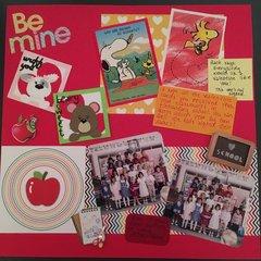 1st Grade valentine page