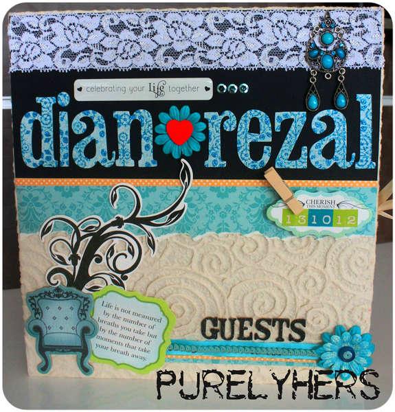 Wedding Guest book for Dian & Rezal