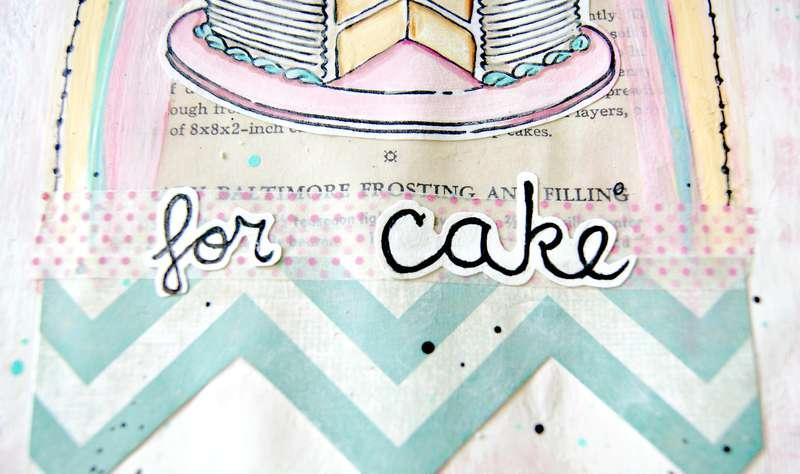 Hooray for cake! ...a bit of an Art Journal spread