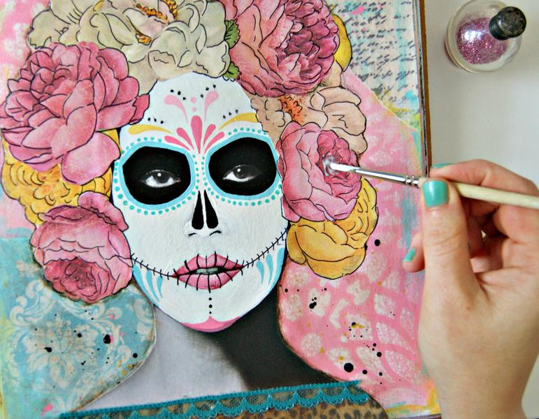 Day of the Dead Art Journal tutorial
