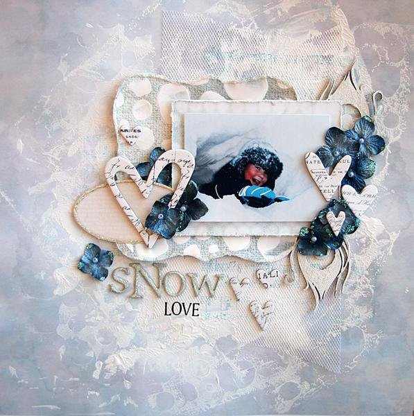 Snow Love *Scraps of Elegance January Sketch*