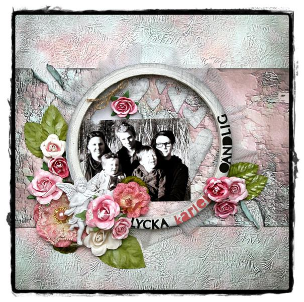 "Happiness love forever ""Scraps of Elegance - January kit"""
