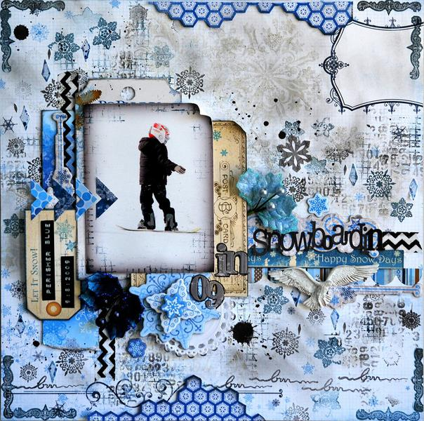"** Scraps Of Elegance December ""Winter Wishes kit""**"
