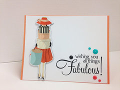 Metropolitan Girl greeting card