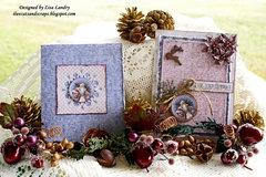 2017 Handmade Old-World Santa Christmas Cards