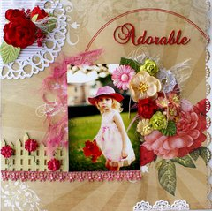 Adorable ~ my entry in Lindy's Stamp Gang July 2014 Color Challenge