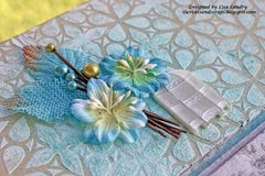 Brianne's Special Easel Card ~ stenciling view (Blue Fern Studios)