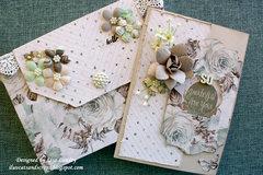 So grateful for you ~ Prima Zella Teal card & envelope