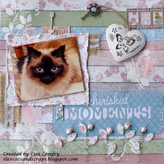 Cherished Moments ~ gorgeous Bo Bunny Garden Journal collection