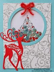 2016 Reindeer Christmas Shaker Card