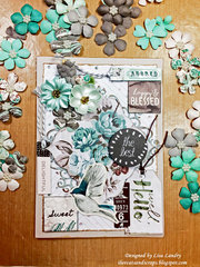 Prima Zella Teal ~ Handmade Card
