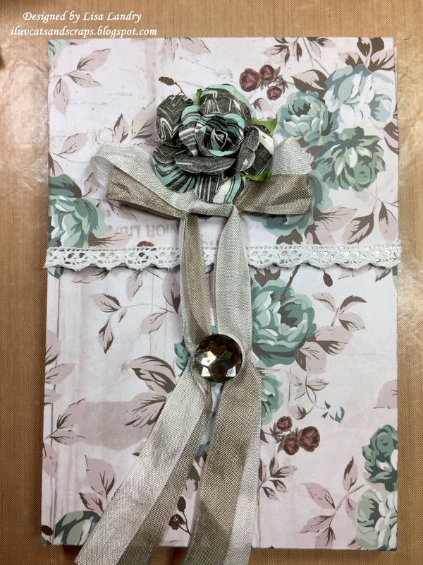 Prima Zella Teal ~ Pocket Envelope