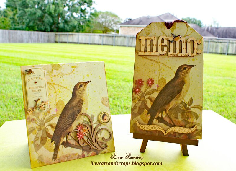 K&Company Flora & Fauna - Card and Tag Set (Bird)
