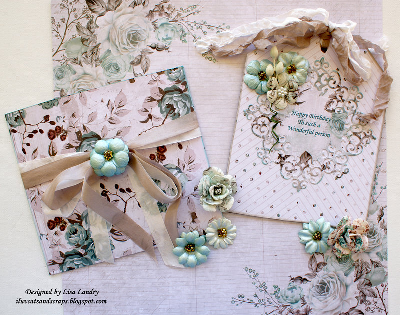 Lorna's Birthday Tag with Pocket Envelope ~ Prima's new Zella Teal Collection