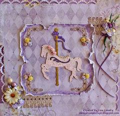 Shabby Pink Carousel Horse