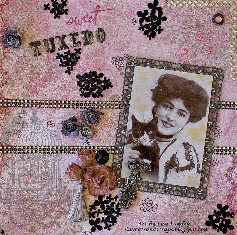 Sweet Tuxedo ~ Bo Bunny 'Madeleine' & Wild Orchid Crafts