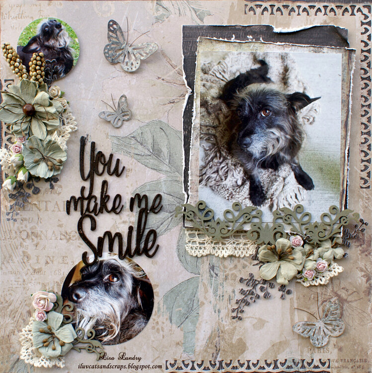 You make me Smile ~ a layout of Dixie (Possum)
