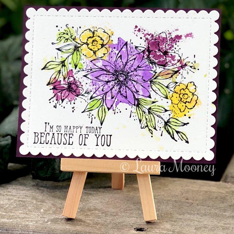 Distress Smooshed Floral