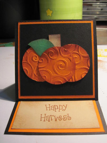 Fall Happy Harvest card