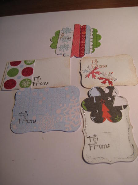 Christms Tags Examples for Craft Day with Grandpa
