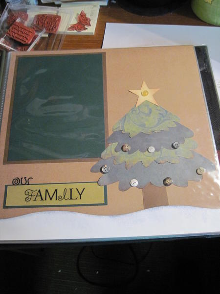 My family Christmas layout for Christmas album