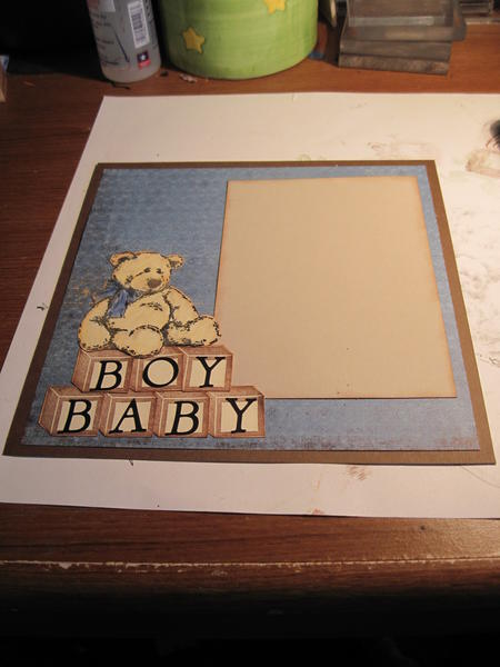8 x8 layout for a baby boy album