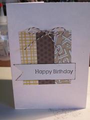 Happy Birthday card inspired by pinterest
