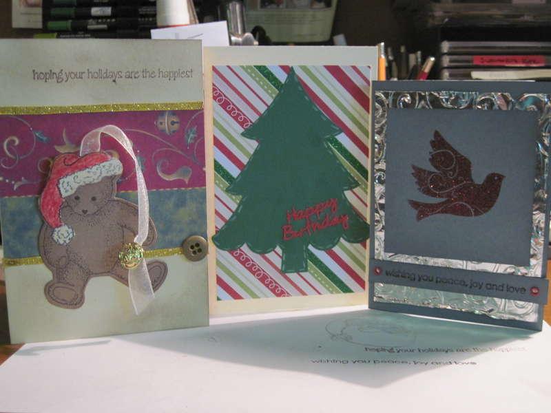 3 christmas cards for virtual swap