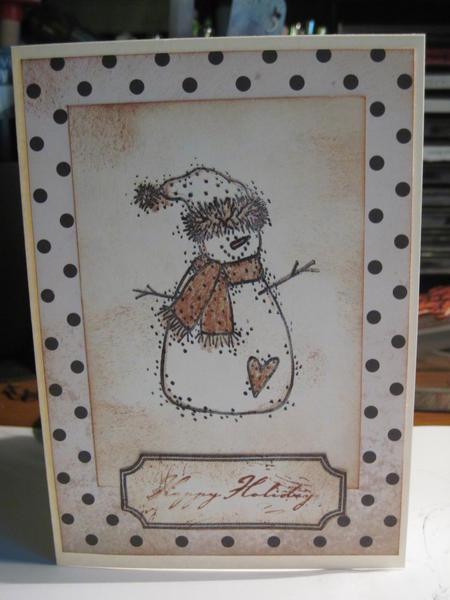 Polka dot Christmas card for virtual swap